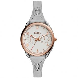 Fossil ES4048 TAILOR Uhr Damenuhr Lederarmband Datum grau
