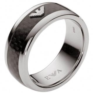 Emporio Armani EGS1602 Herren Ring Edelstahl Carbon 63 (20.1)