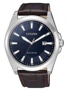 Citizen BM7108-22L Eco Drive Uhr Herrenuhr Lederarmband Datum Braun