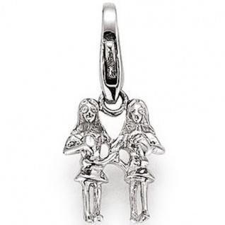 GOOIX GXC304 Charms Damen Charm Silber Sternzeichen Zwilling