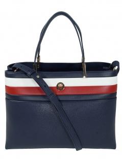 Tommy Hilfiger Damen Handtasche Tasche TH Core Satchel Blau