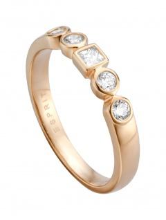 Esprit ESRG00521318 Damen Ring Flow Rose Weiß 56 (17.8)