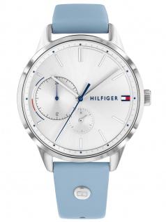 Tommy Hilfiger 1782023 BROKE Uhr Damenuhr Lederarmband Datum Blau