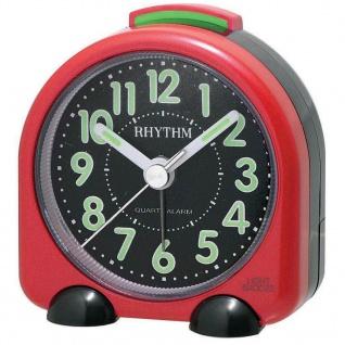 RHYTHM CRE229NR01 Wecker Uhr Alarm Schwarz