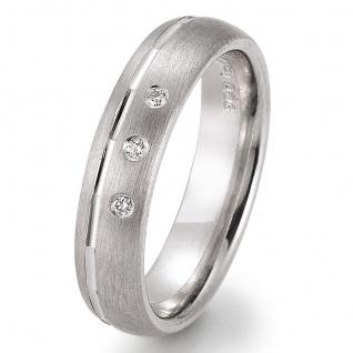GOOIX 943-3241Z Damen Ring Silber Zirkonia weiß 58 (18.5)