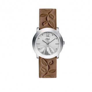 s.Oliver SO-3315-LQ Uhr Damenuhr Lederarmband Braun