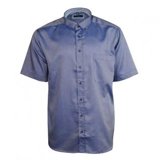 Eterna Herrenhemd Kurzarm Comfort Fit Blau Freizeit Hemd Hemden L/42
