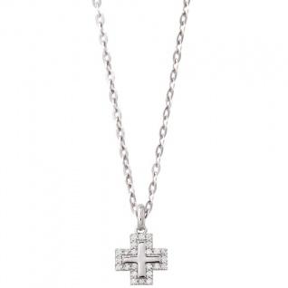 XENOX XS8618 Damen Collier Kreuz Modern Classic Silber weiß 45 cm