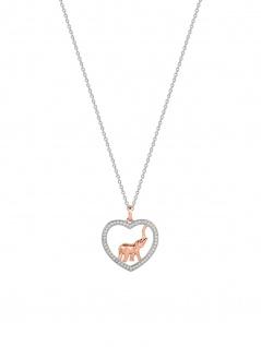 XENOX XS1538R Damen Collier Elefant Ethno Club Bicolor Rose Weiß 45 cm - Vorschau 1