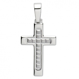 Basic Silber 27.9106S Herren Anhänger Kreuz Silber