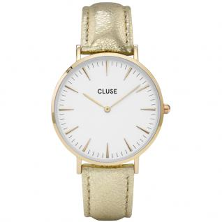 CLUSE CL18421 La Bohème Gold White/Gold Metallic Uhr Damenuhr gold