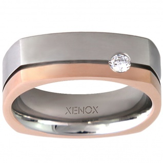 XENOX X2243-56 Damen Ring XENOX & friends Bicolor Rose Weiß 56 (17.8) - Vorschau 1