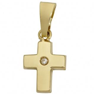 Basic Gold K31 Kinder Anhänger Kreuz 14 Karat (585) Gelbgold