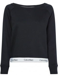 Calvin Klein Damen Pullover Top Sweatshirt Long Sleeve S Schwarz
