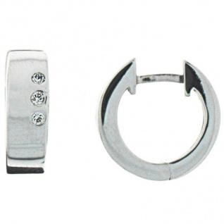 XENOX XS8512 Damen Creolen Modern Classic Silber weiß