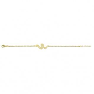 GOOIX 914-05966 Damen Armband Schlange Sterling-Silber 925 Gold 20 cm