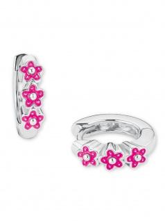 Prinzessin Lillifee 2021026 Mädchen Creolen Blumen Silber Pink