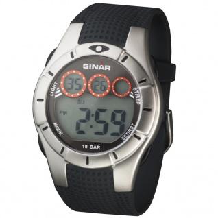 SINAR XG-70-1 Chronograph Digital Uhr Herrenuhr Silikon schwarz