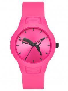 PUMA P1015 Uhr Damenuhr Plastik pink