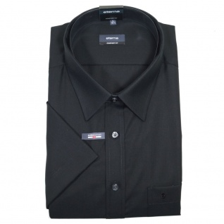 Eterna Herrenhemd Kurzarm 1100/39/K198 Comfort Fit Schwarz Gr. XXXL/47
