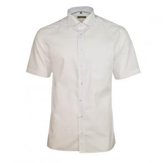 Eterna Herrenhemd Kurzarm Modern Fit Weiß Freizeit Hemd Hemden L/41