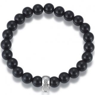 GOOIX GXC214/18 Damen Charms Armband 925 Sterling Silber Schwarz 18 cm