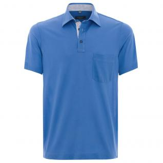 Eterna Herren Comfort Fit Poloshirt Piqué Mittelblau L/42 2203/13/U577