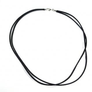 Tom Hill SK1107.45-schwarz Damen Kette Silber schwarz 45 cm
