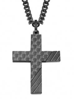 s.Oliver 2022635 Herren Collier Kreuz Edelstahl Silber 50 cm