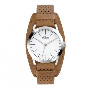 s.Oliver SO-3222-LQ Uhr Damenuhr Lederarmband Braun