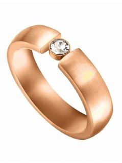 Esprit ESRG00142618 Damen Ring Laurel Edelstahl Rose Weiß 57 (18.1)