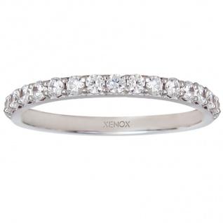 XENOX XS7357 Damen Ring Silver Circle Silber weiß 50 (15.9)