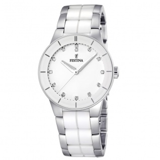 FESTINA F16531/3 KERAMIK Uhr Damenuhr kratzfestes Keramik weiß