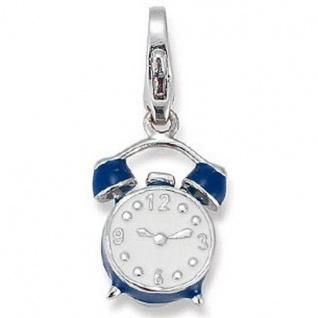 GOOIX GXC174 Charms Damen Charm Silber Wecker blau