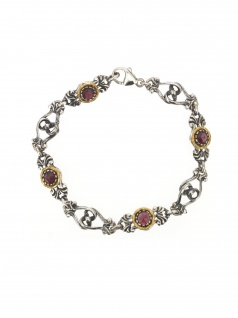 Gerry Eder 41.0195 Damen Armband Sterling-Silber 925 Silber Rot 19 cm