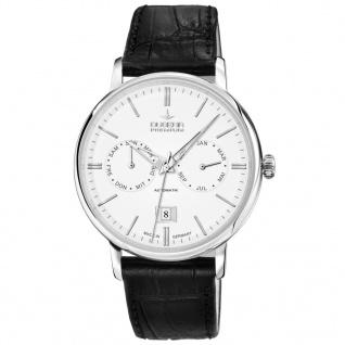 DUGENA 7000330 AUTOMATIK Premium Uhr Herrenuhr Lederarmband schwarz