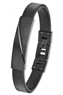 s.Oliver 2028439 Herren Armband Edelstahl schwarz 21, 5 cm