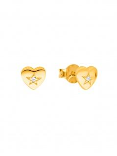Prinzessin Lillifee 2029682 Mädchen Ohrstecker Herz Gold Weiß