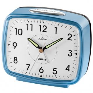 DUGENA 4460609 Wecker Alarm Analog schwarz blau silber