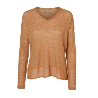 Vero Moda Damen Pullover Pulli SALLY Build LS Top Braun Gr. XS