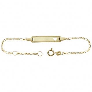Basic Gold TG09 Kinder Gravur Armband 14 Karat (585) Gelbgold 14 cm