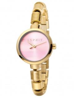 Esprit ES1L017M0055 Shay Pink Gold SET Uhr Damenuhr Edelstahl Gold