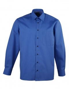 Eterna Herren Hemd Langarm Comfort Fit 3072/16/E18E Blau XL/43