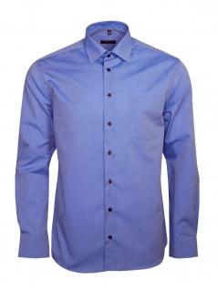 Eterna Herren Hemd Langarm Modern Fit Hemden 8504/15/X19P Blau L/41
