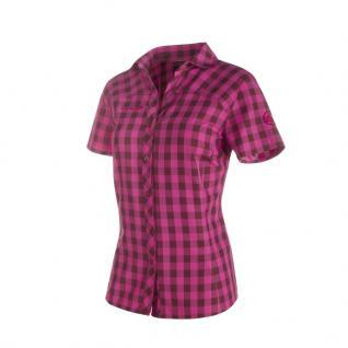 Mammut Damenbluse Kurzarm Aada Shirt Women Pink Grau kariert Bluse XL
