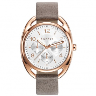 Esprit ES-ANNIE TAUPE Uhr Damenuhr Lederarmband Datum beige