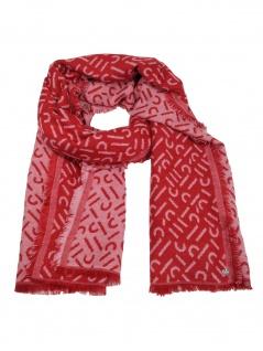 Esprit Damen Schal Stola Smart Blanc Baumwolle 180cm Rot 010EA1Q309