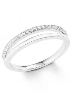 s.Oliver 2022725 Damen Ring Sterling-Silber 925 Silber Weiß 52 (16.6)