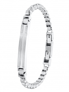 s.Oliver 2031557 Herren Armband Edelstahl Silber 21 cm
