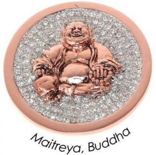 Quoins QMOA-28L-R Damen Münze Jewelz Maitreya, Buddha large rose